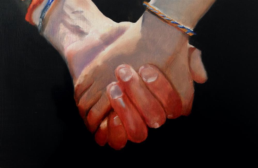 """Holding Hands"" original fine art by James Coates"