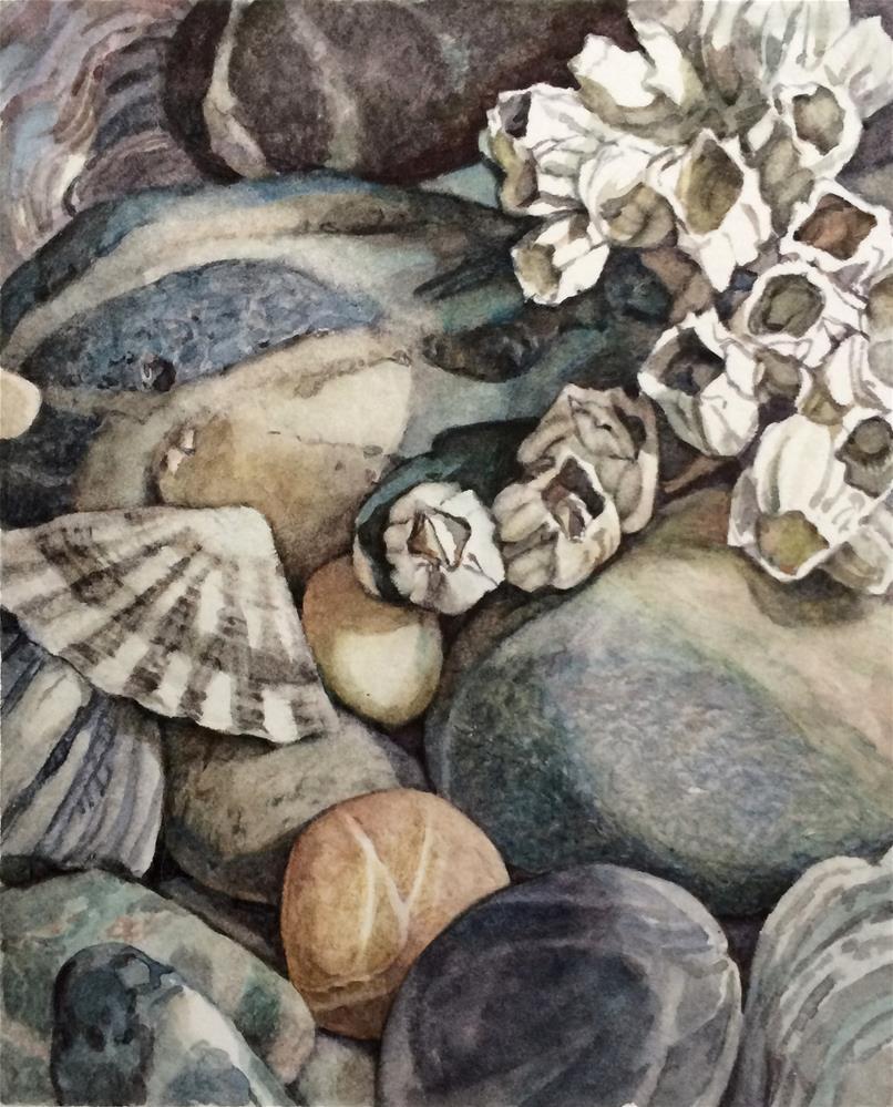 """""""Beaches Smooth & Craggy"""" original fine art by Nicoletta Baumeister"""