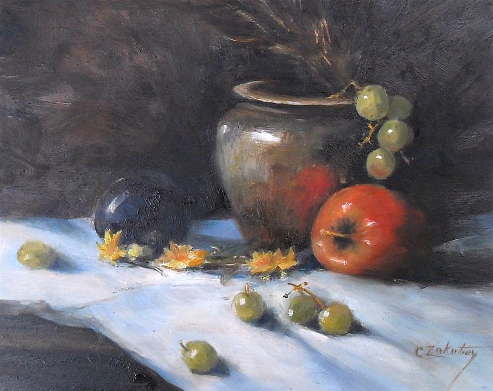 """""""Table Talk"""" original fine art by Catherine Zakutney"""