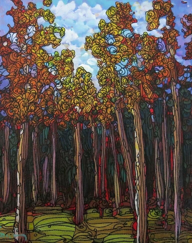 """#22 TALL TREES"" original fine art by Dee Sanchez"