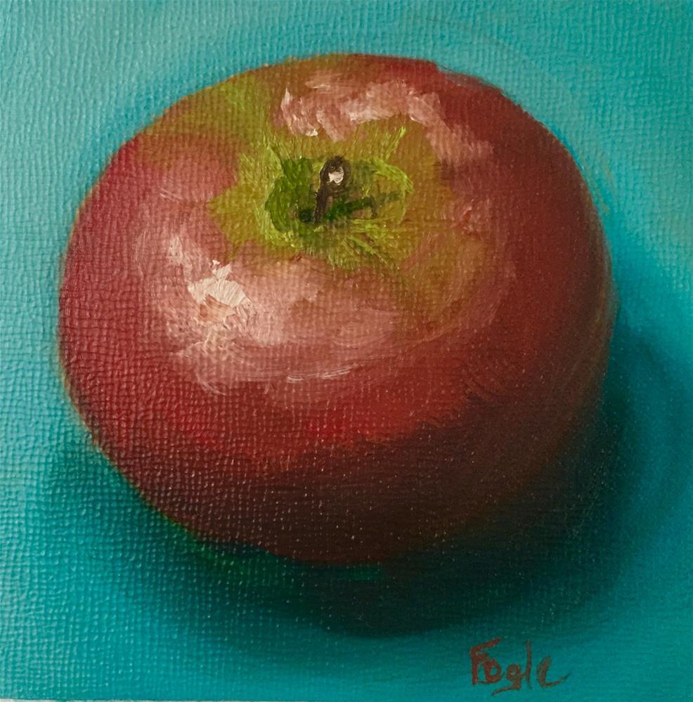 """""""15-10 An Apple a Day"""" original fine art by Rachel Fogle"""