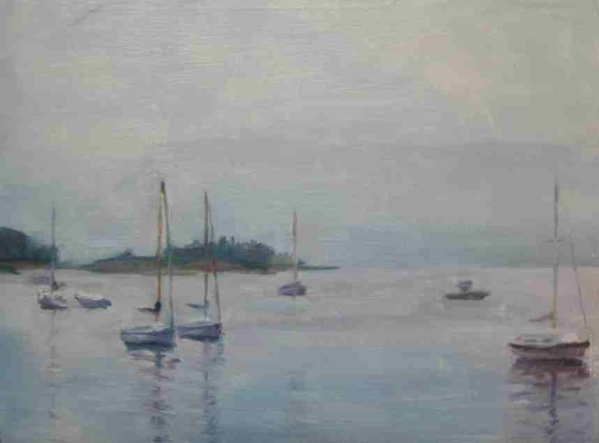 """Rockport Harbor"" original fine art by Katie Wilson"