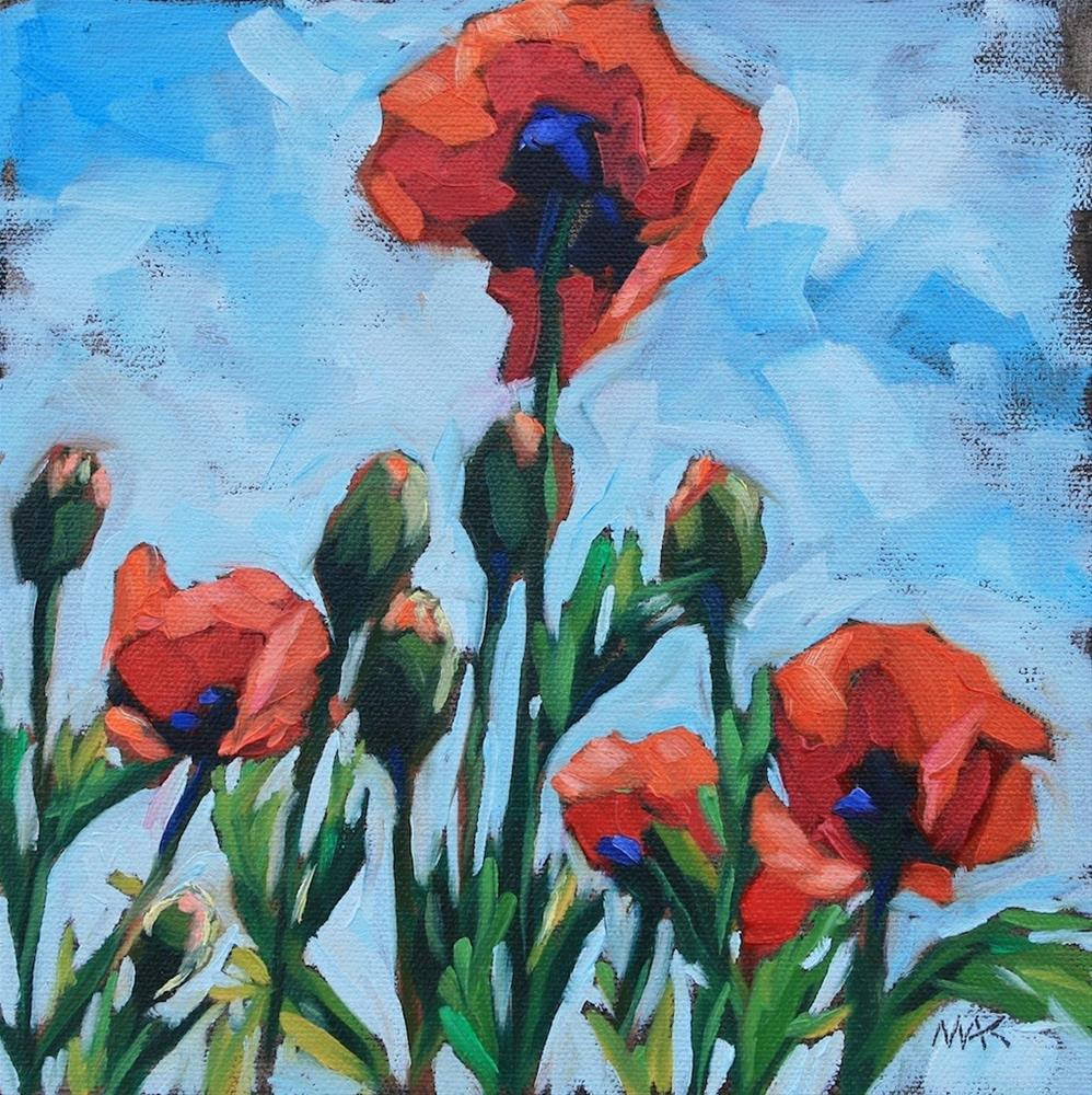 """Summer Poppies"" original fine art by Mary Anne Cary"