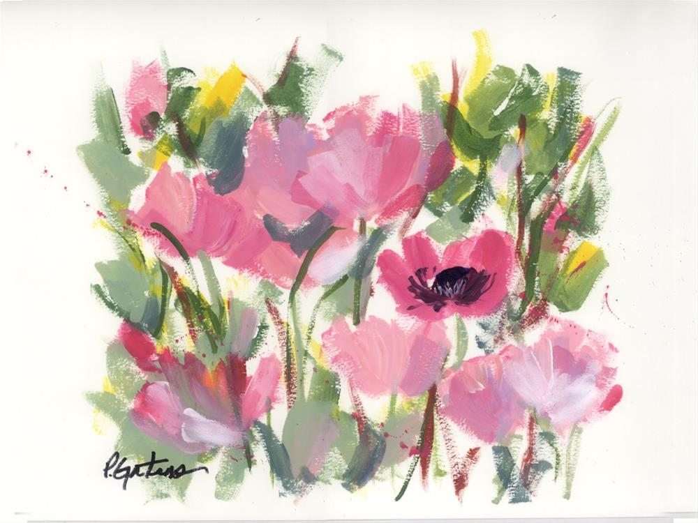 """Pink Poppy Graphic"" original fine art by Pamela Gatens"