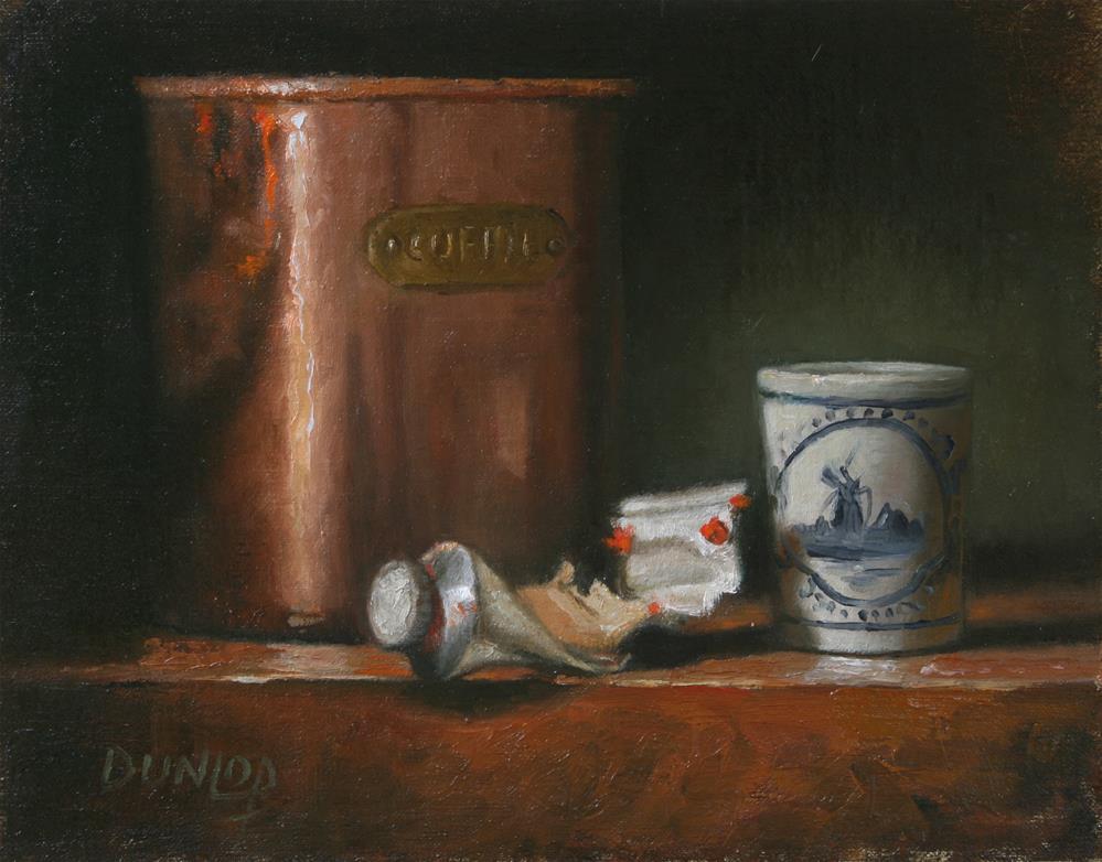 """""""Pondering the Master"""" original fine art by Bobbi Dunlop"""