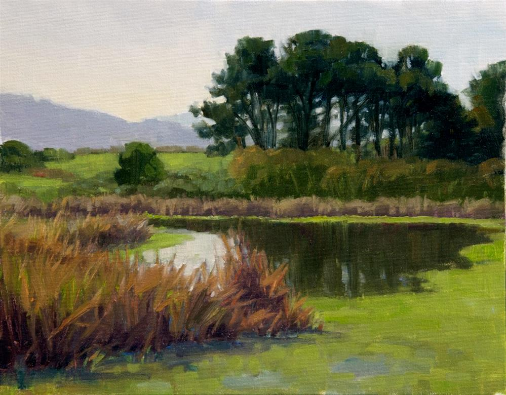 """Morning-Arcata Marsh"" original fine art by Kathy O'Leary"