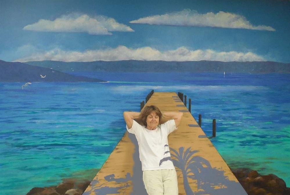 """Wall Mural, River of Dreams, 12x9 feet"" original fine art by Carmen Beecher"