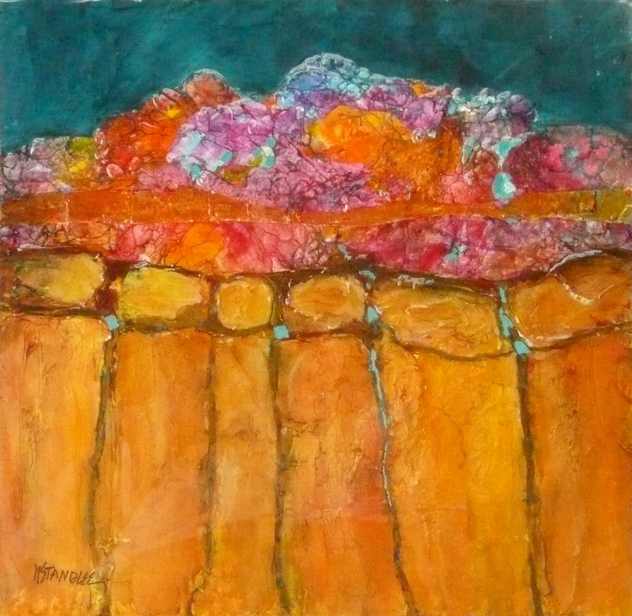 """Santa Fe Strata 11022 (Sold - private collection)"" original fine art by Nancy Standlee"