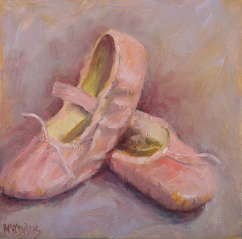 """First Ballet shoes"" original fine art by Phyllis McAdams"