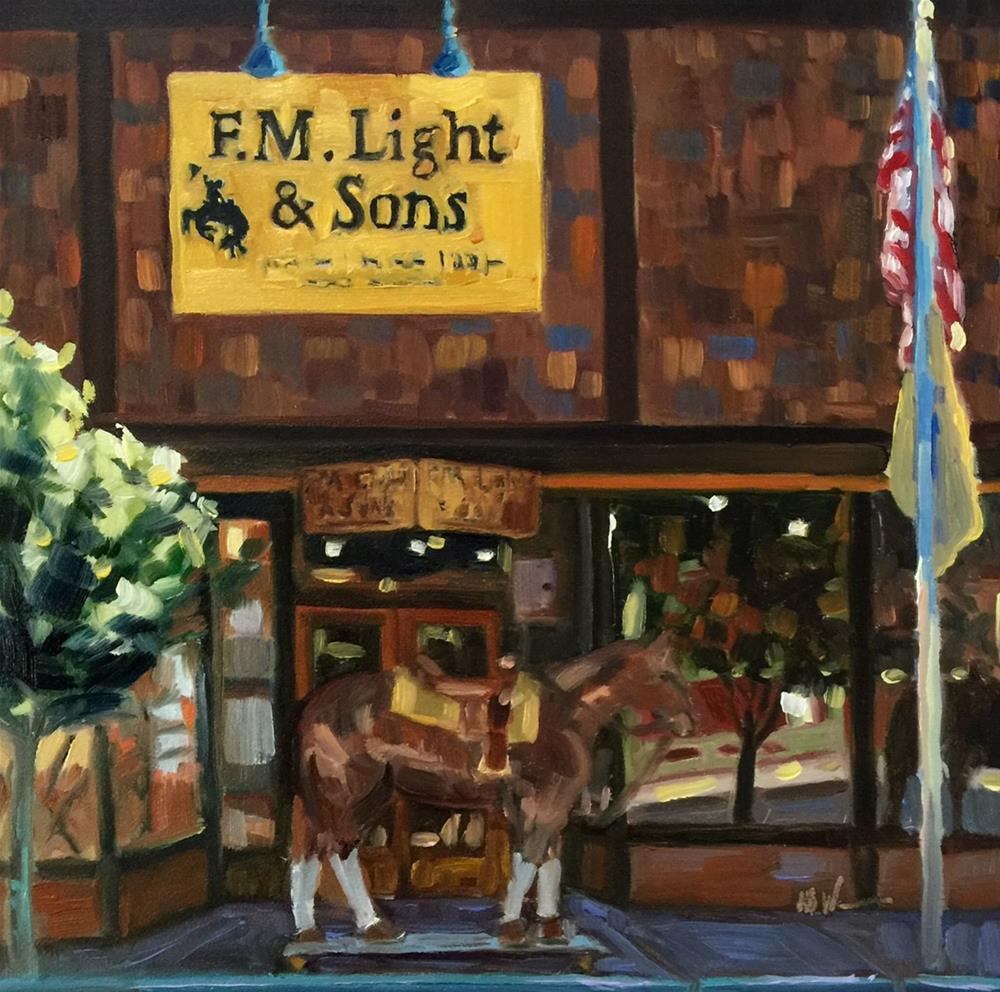 """F.M. Light"" original fine art by Mb Warner"