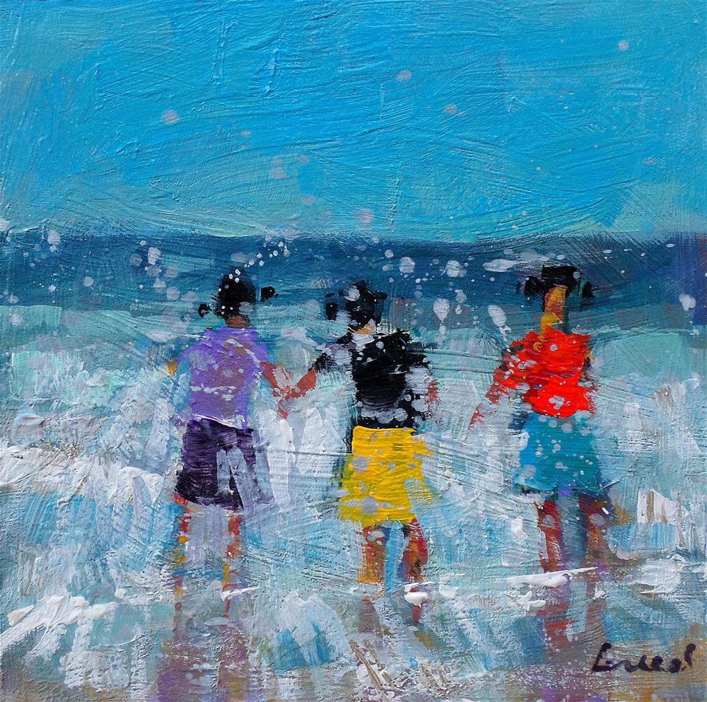 """Small bathers"" original fine art by salvatore greco"