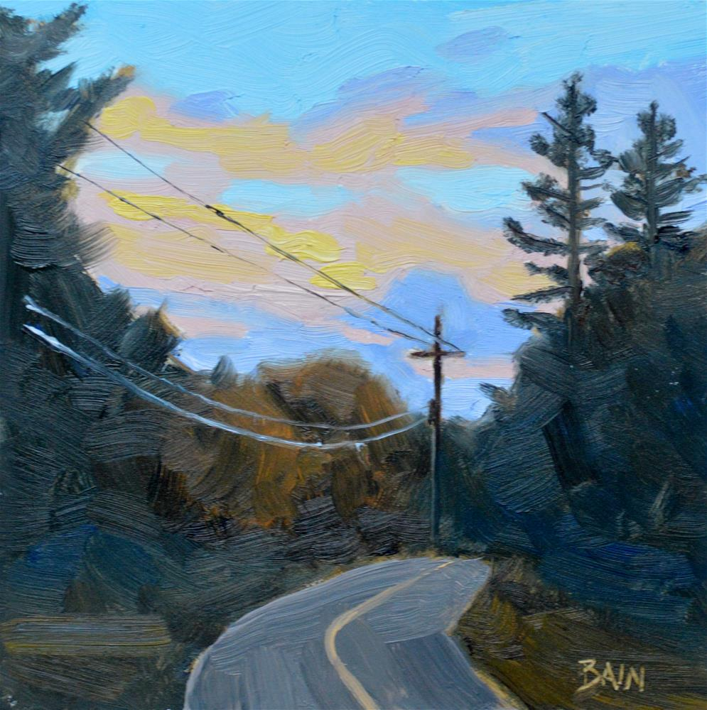 """Sunset Bend"" original fine art by Peter Bain"
