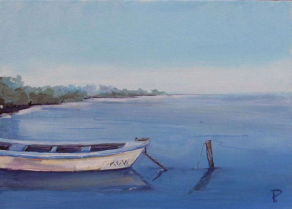 """Old Fishing Boat"" original fine art by Dianna Poindexter"