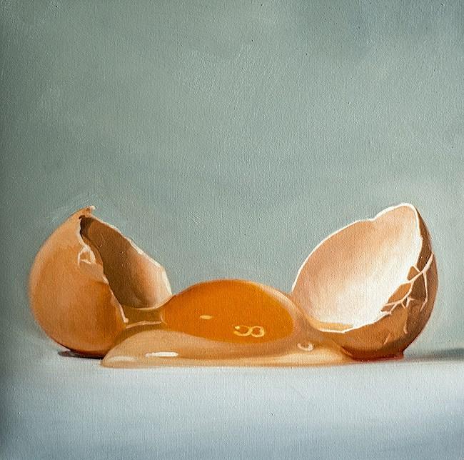 """""""Cracked Egg #3"""" original fine art by Lauren Pretorius"""