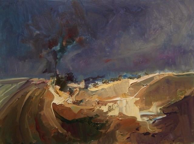 """Night Light"" original fine art by Anne Wood"