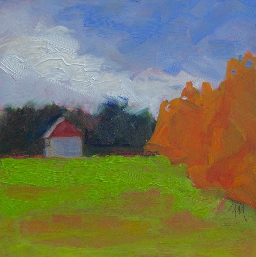 """Farm and Field"" original fine art by Maria McNitt"