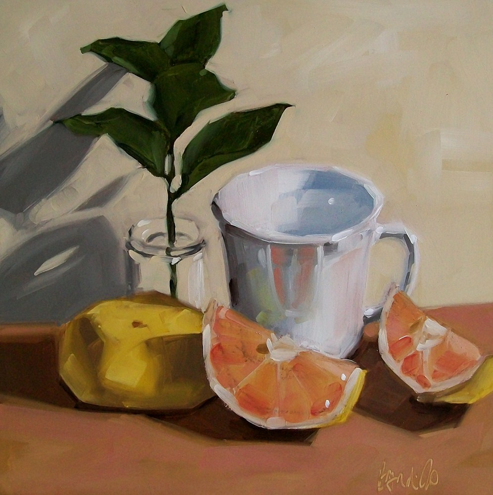 """Still life with grapefruit"" original fine art by Brandi Bowman"