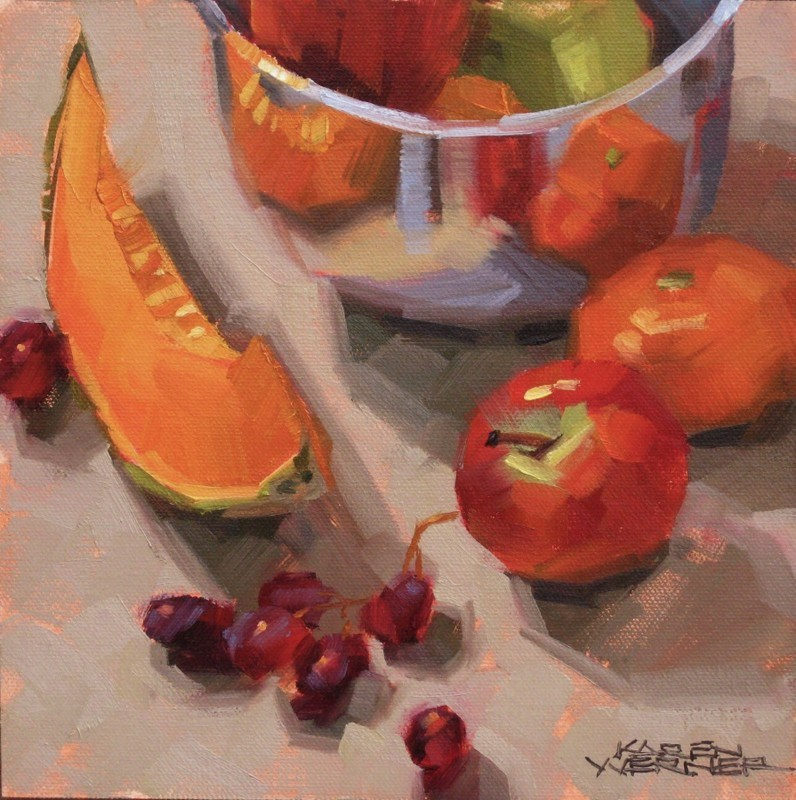 """Shiny Fruit Fest"" original fine art by Karen Werner"