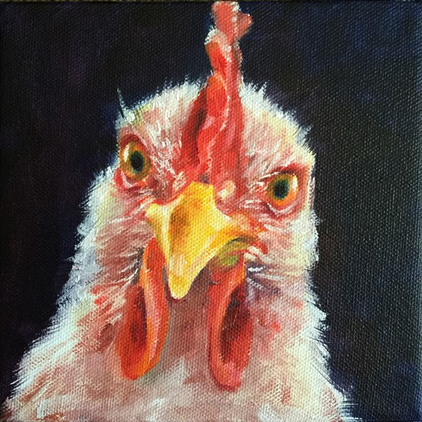 """rooster02"" original fine art by Joy Cai"
