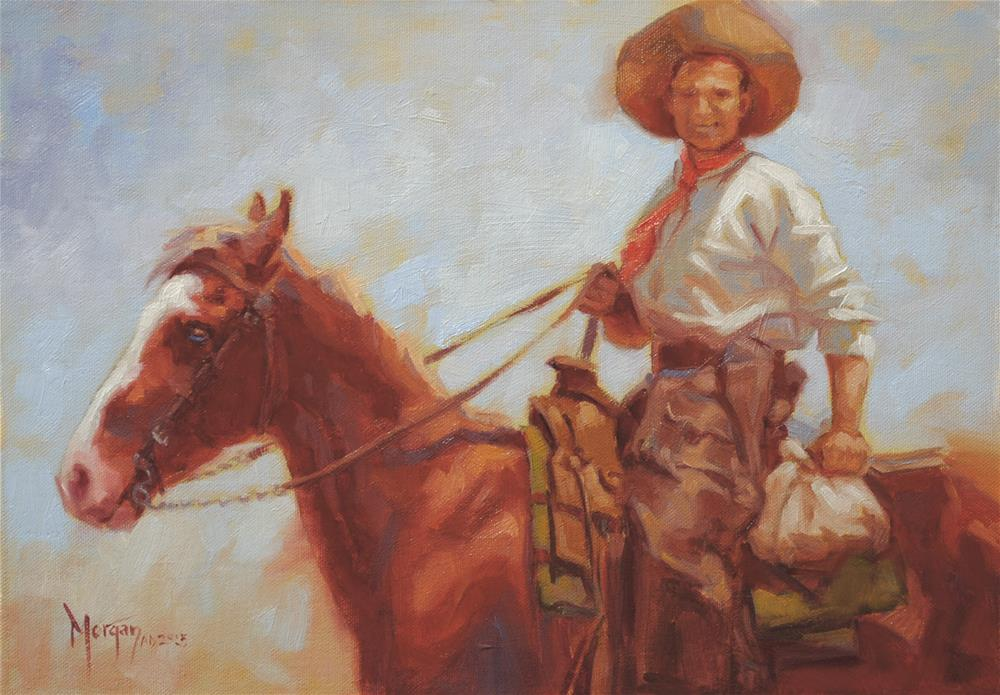 """Wrangler Memories #12"" original fine art by Cecile W. Morgan"