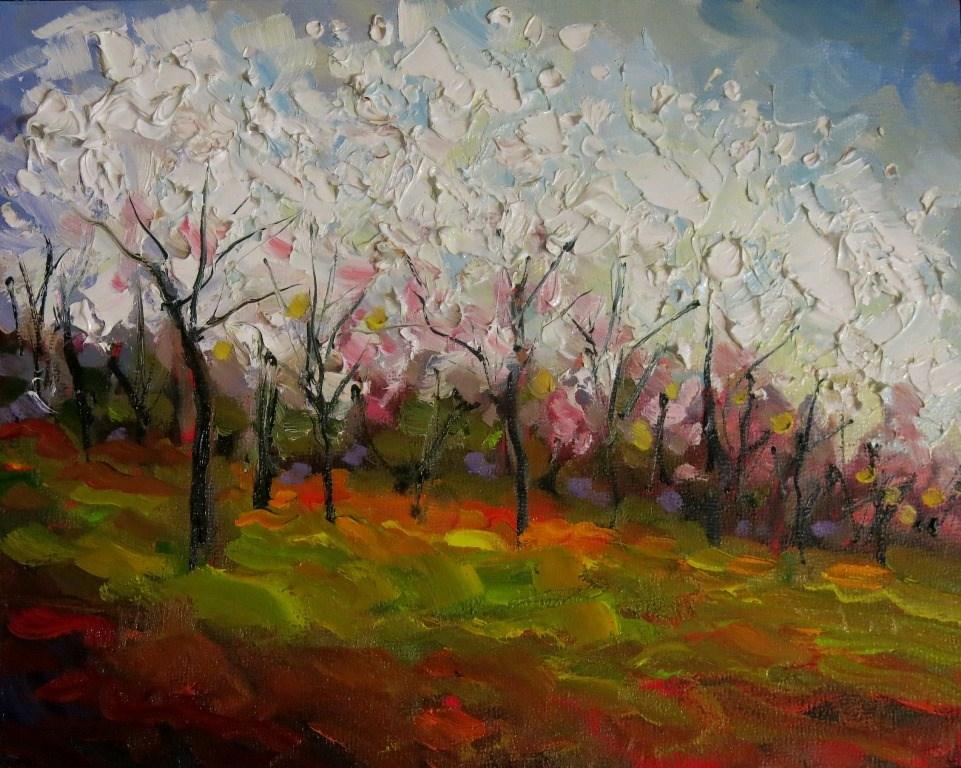 """#139  RITES OF SPRING"" original fine art by Dee Sanchez"