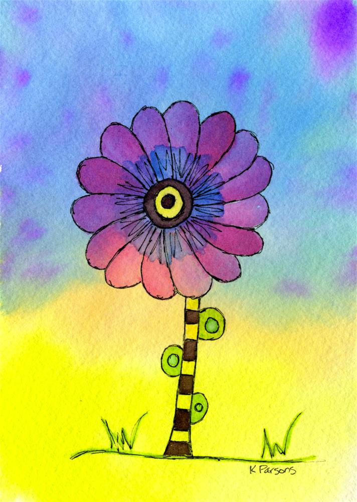 """Clownish"" original fine art by Kali Parsons"