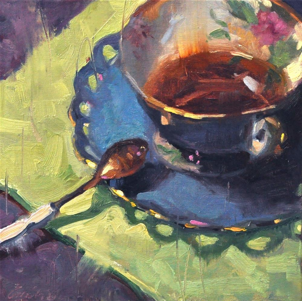 """Evening Tea"" original fine art by Emiliya Lane"
