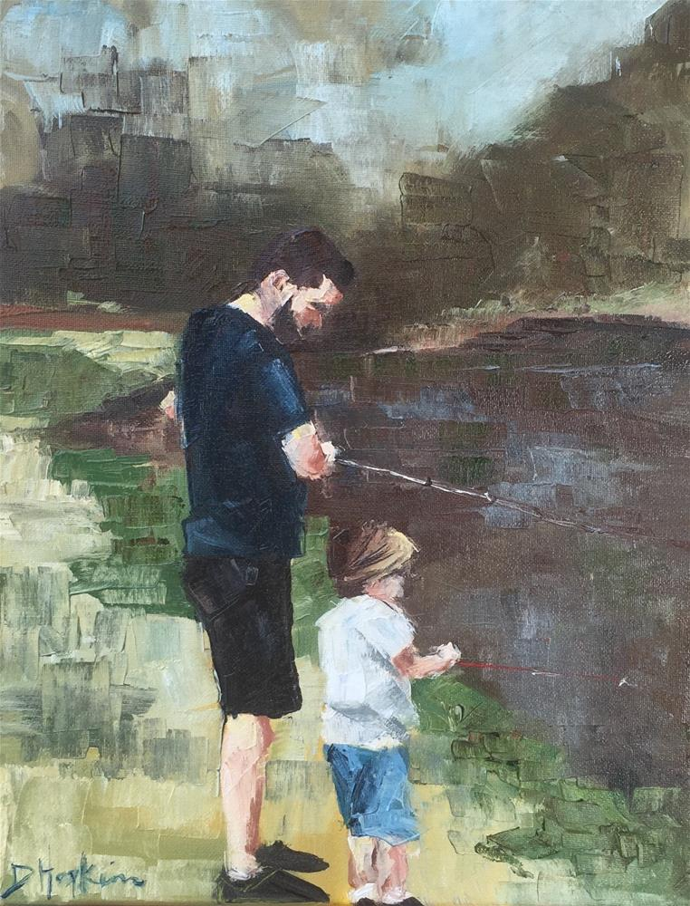 """The Big Catch"" original fine art by Denise Hopkins"