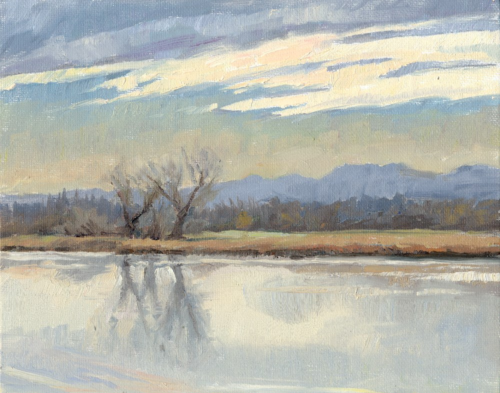 """Winter Sky"" original fine art by Kath Reilly"