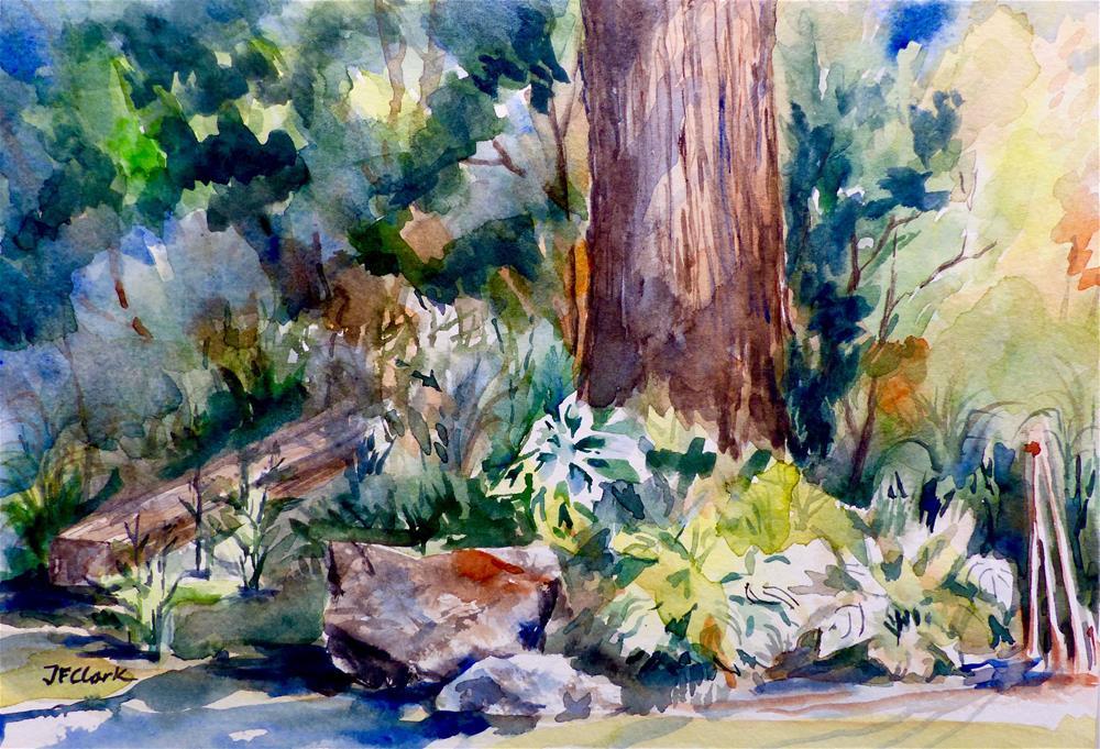 """Rock Garden, July Afternoon"" original fine art by Judith Freeman Clark"