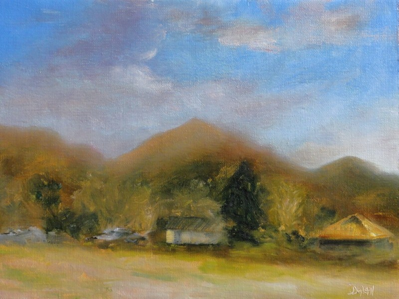 """Rusty Roof Ranch"" original fine art by Dalan Wells"
