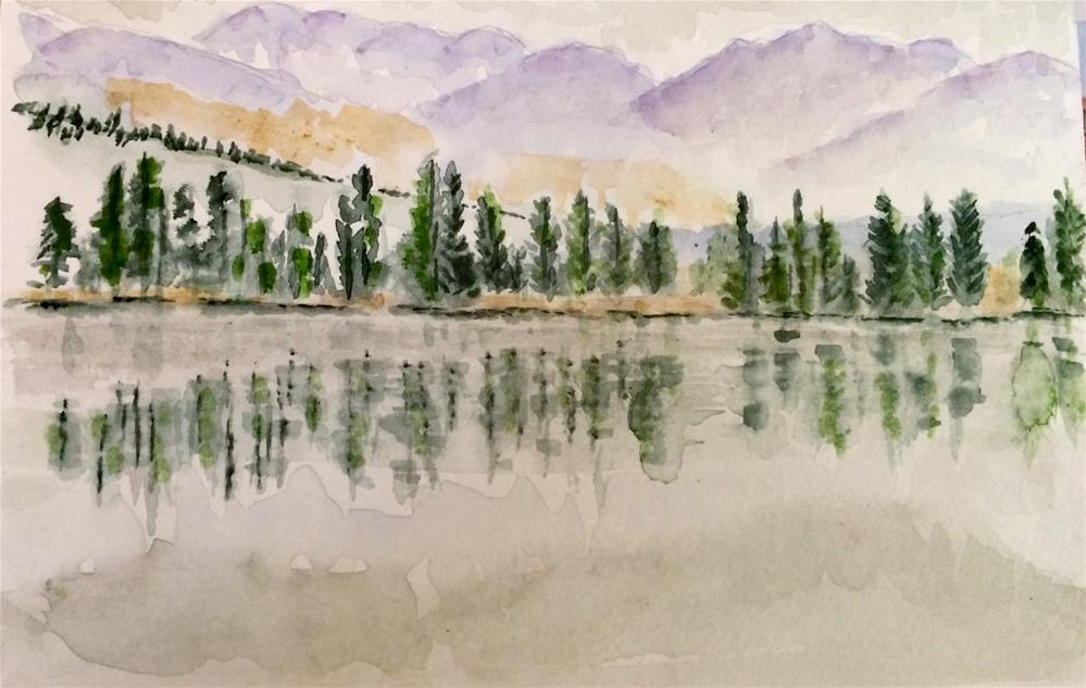 """Reflections Watercolor 6 X 9 NFS"" original fine art by Nancy Beard"