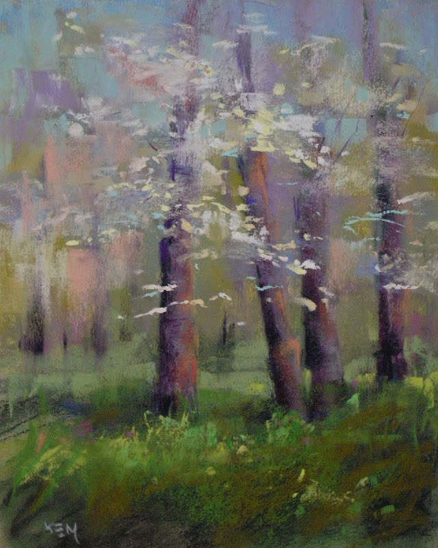 """The Challenges of Painting the Spring Landscape"" original fine art by Karen Margulis"