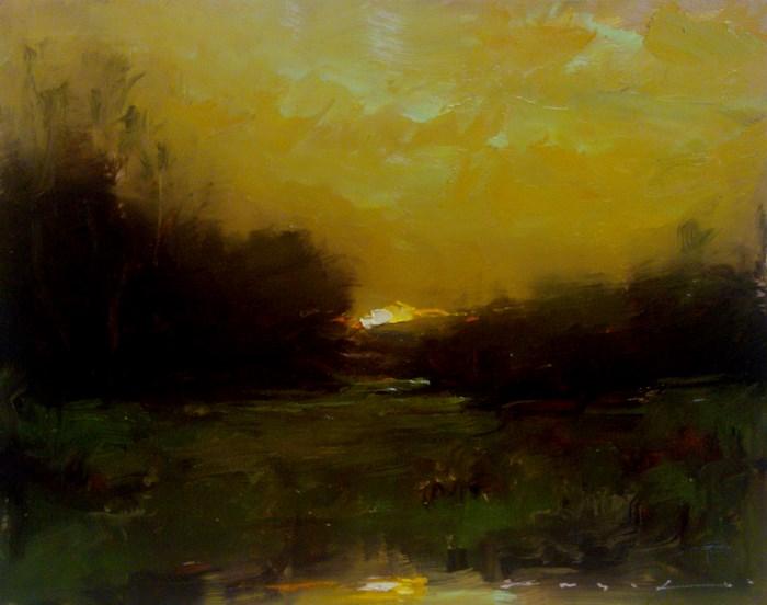 """Landscape_LS12"" original fine art by Angel Angelov"