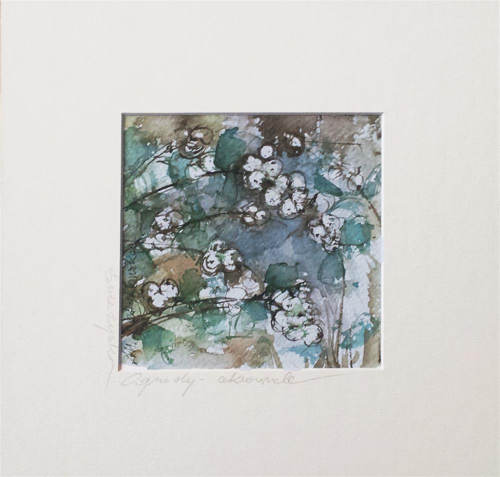 """Snowflakes"" original fine art by Marlena Czajkowska"