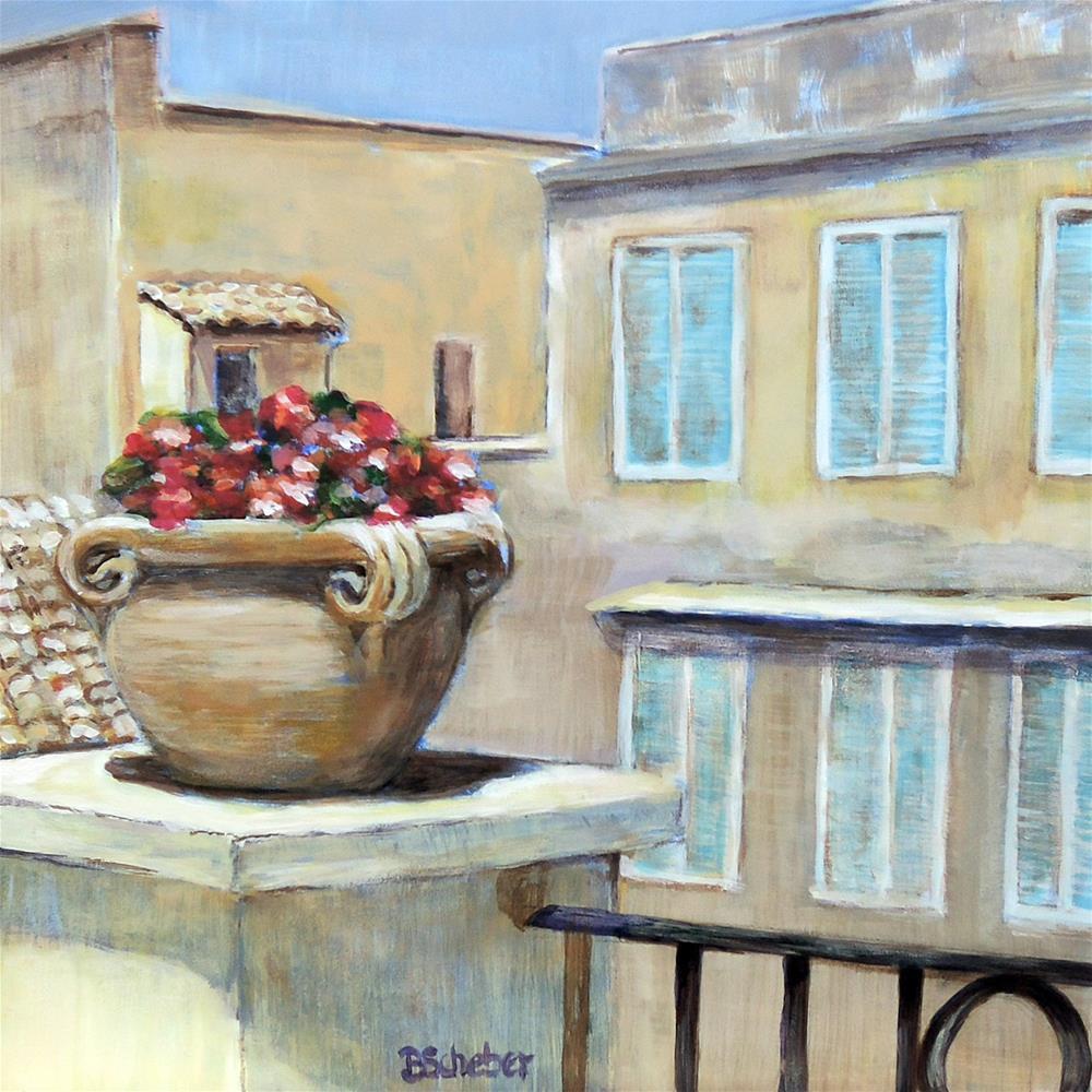 """""""Rome Roof Top"""" original fine art by Belinda Scheber"""