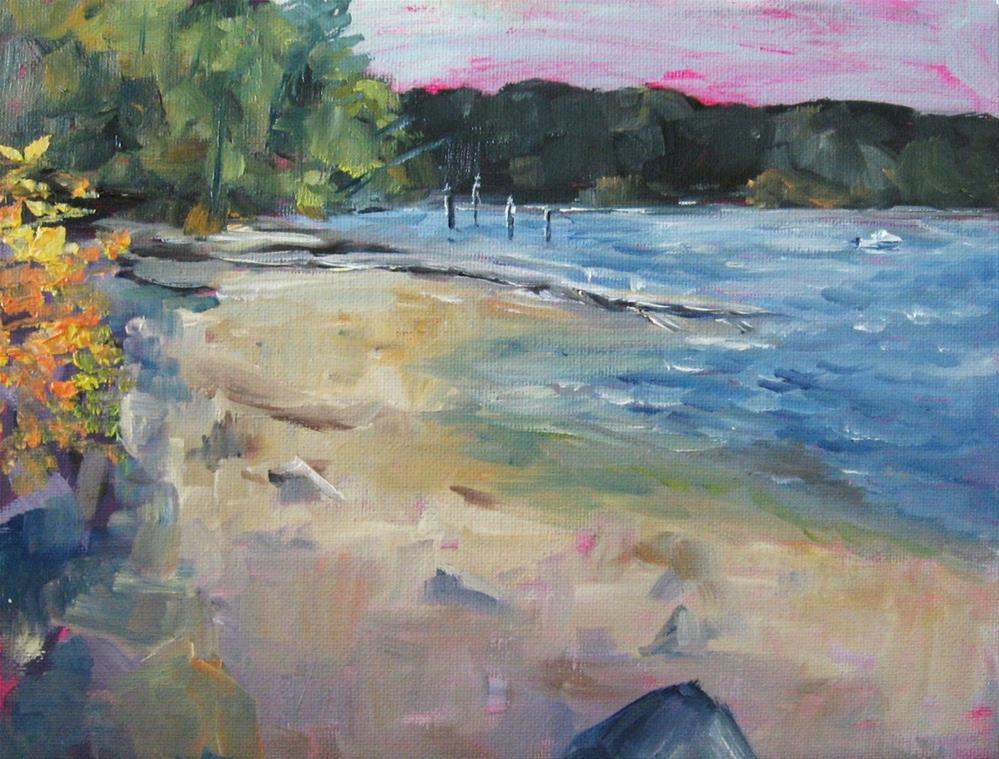 """8 x 10 inch oil Plein aire Mill Bay #1"" original fine art by Linda Yurgensen"
