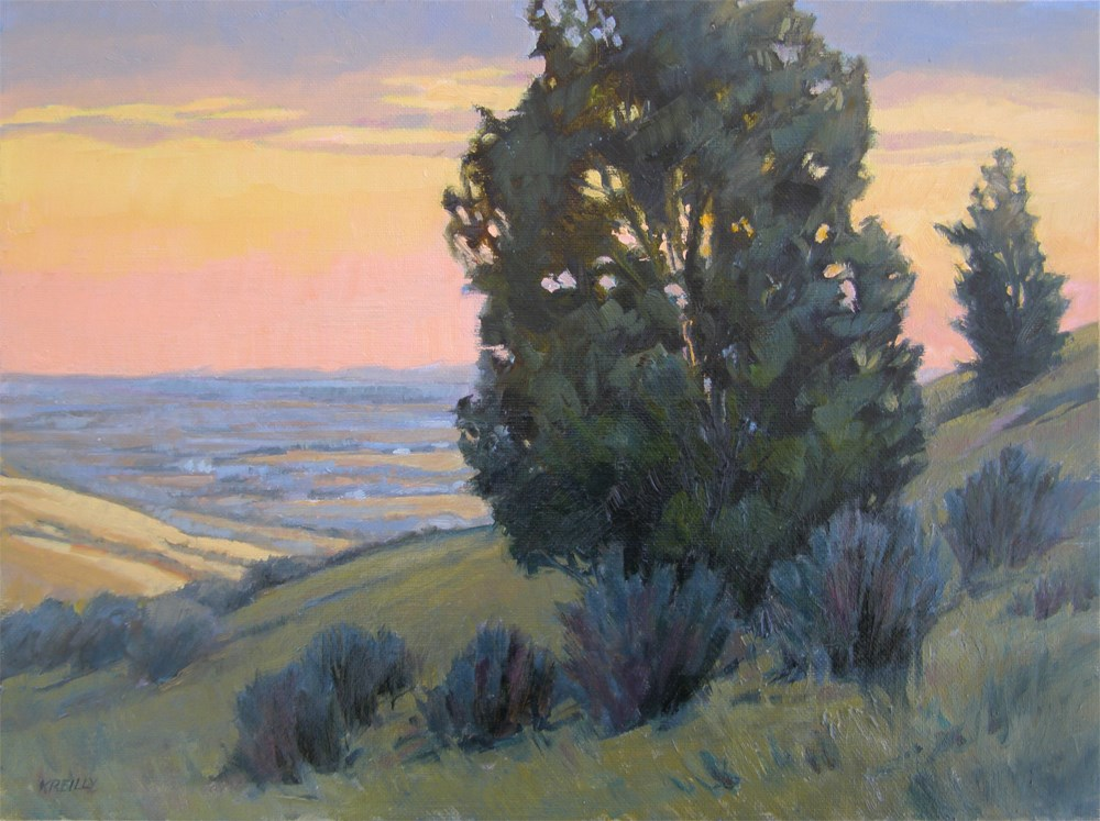 """Pink Sky"" original fine art by Kath Reilly"