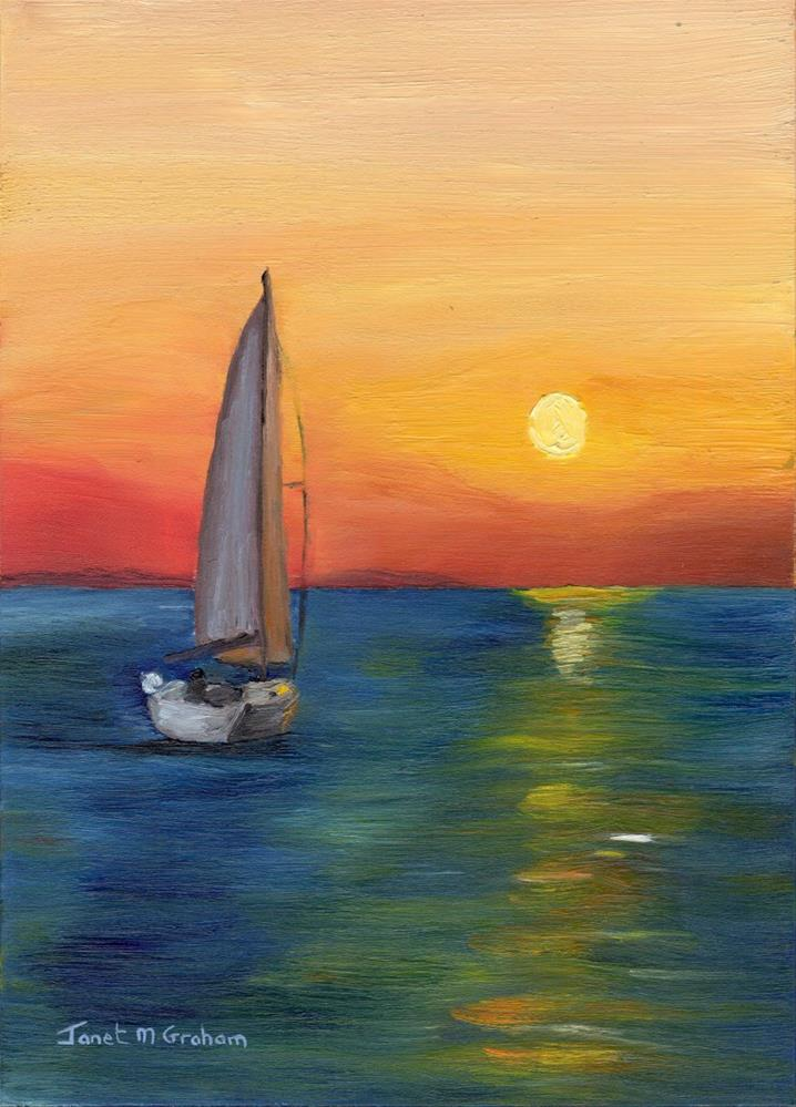 """Dawn Sail"" original fine art by Janet Graham"