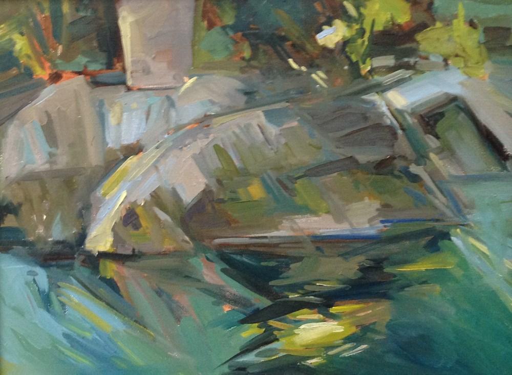 """Under The Troll Bridge"" original fine art by Patti McNutt"