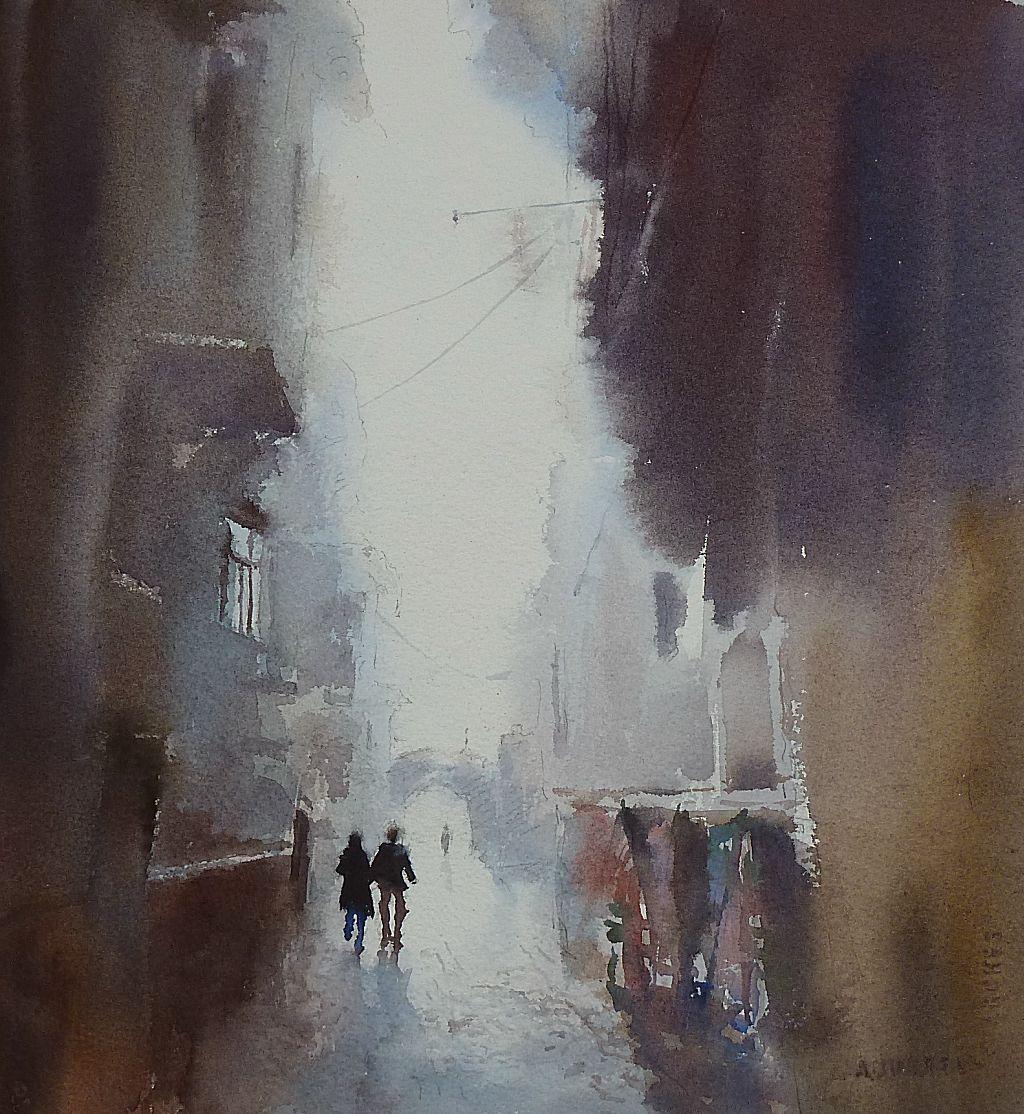 Boulevard of mists original fine art by Mineke Reinders