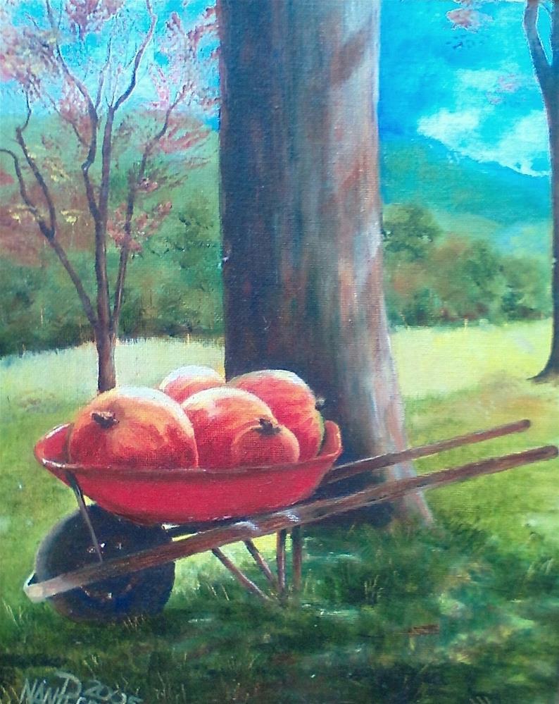 """October Harvest"" original fine art by Nan Perry"
