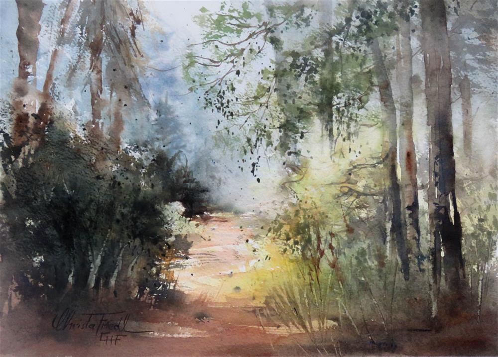 """in the woods"" original fine art by Christa Friedl"