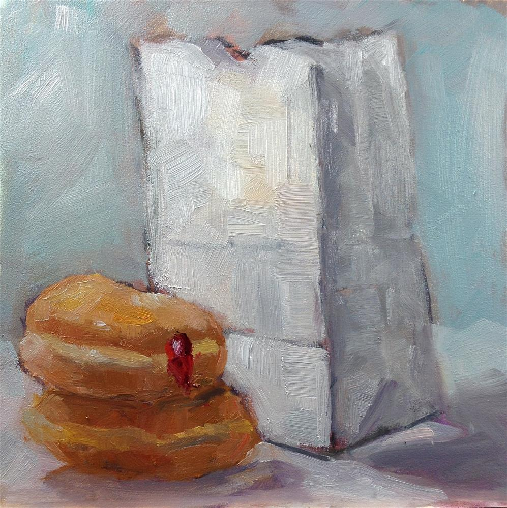 """Paul's Donuts - Take 2"" original fine art by Carol Josefiak"