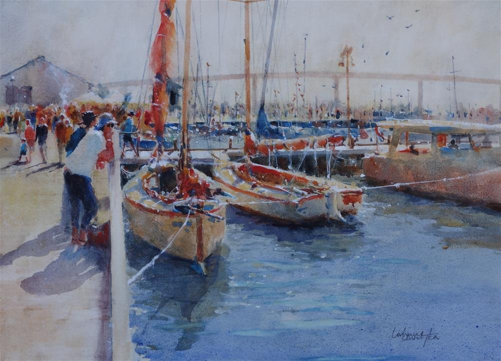 """Boat Festival"" original fine art by Lorraine Lewitzka"