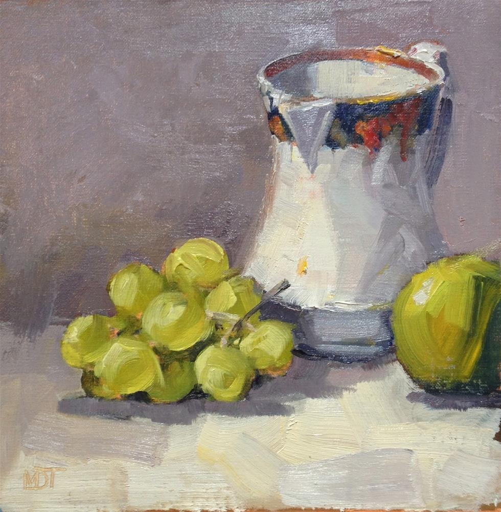 """Grapes and cream jug"" original fine art by Mo Teeuw"