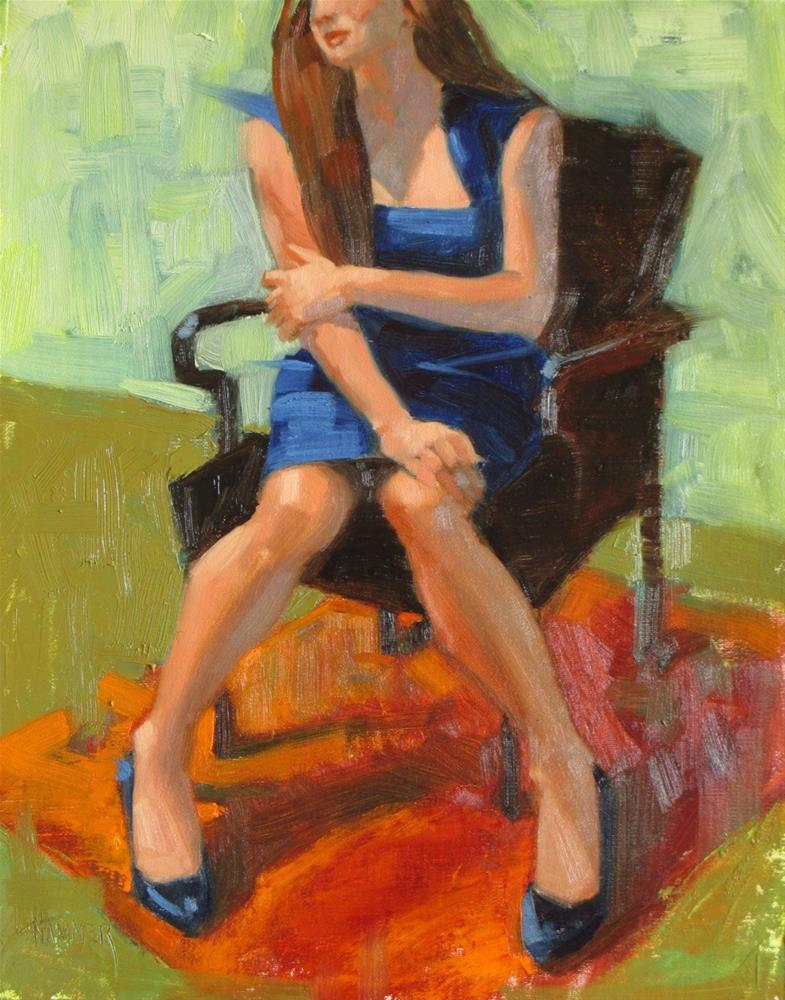 """Blue Shoes  14in x 11 in   Oil on linen"" original fine art by Claudia Hammer"