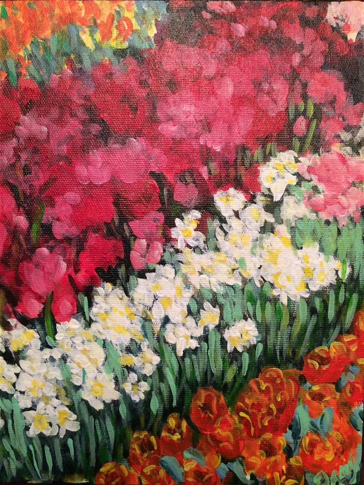 """Spring Abstract - Longwood 2014"" original fine art by Tracy Feldman"