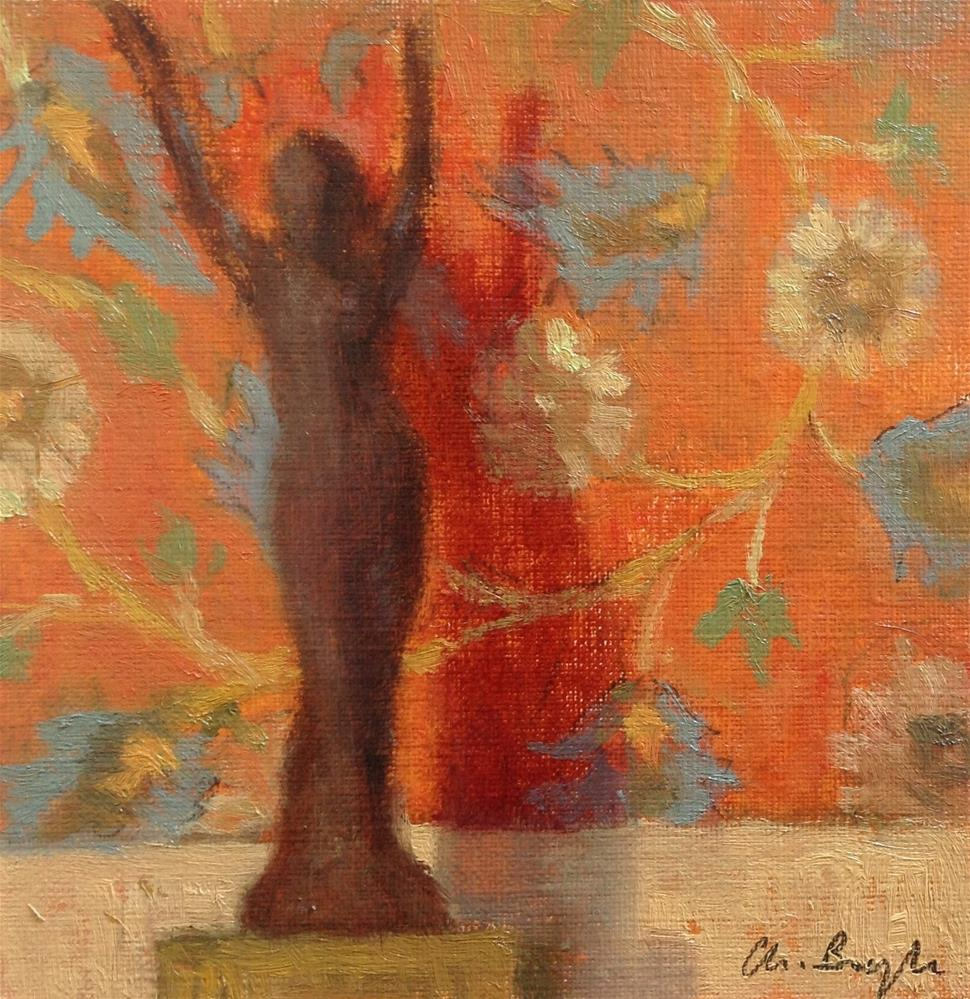 """Sun goddess"" original fine art by Christine Bayle"