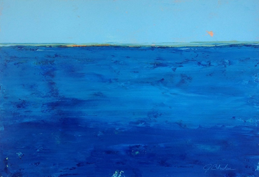 """Azure Sea"" original fine art by Janet Bludau"